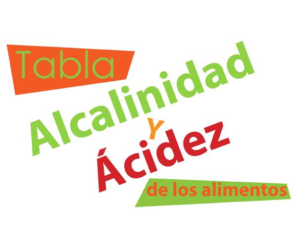 Tabla de acidez y alcalinidad de los alimentos